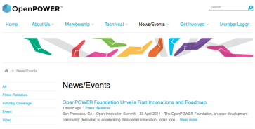 Open Power Web Page